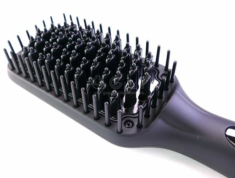 Heated Bristles Of A Hair Straightener Brush